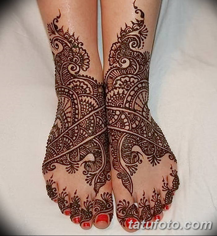 фото Мехенди на лодыжке от 13.07.2018 №126 - Mehendi on the ankle - tatufoto.com