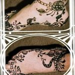 фото Мехенди на лодыжке от 13.07.2018 №127 - Mehendi on the ankle - tatufoto.com