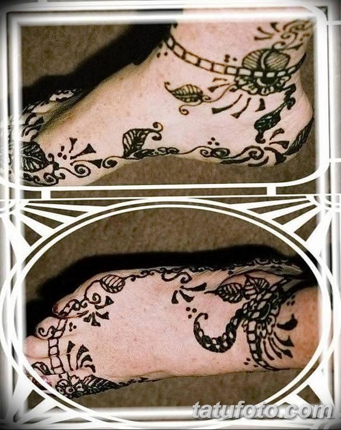 фото Мехенди на лодыжке от 13.07.2018 №127 - Mehendi on the ankle - tatufoto.com