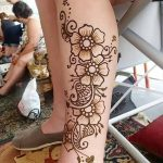 фото Мехенди на лодыжке от 13.07.2018 №128 - Mehendi on the ankle - tatufoto.com