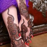 фото Мехенди на лодыжке от 13.07.2018 №129 - Mehendi on the ankle - tatufoto.com