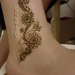 фото Мехенди на лодыжке от 13.07.2018 №130 - Mehendi on the ankle - tatufoto.com