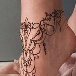 фото Мехенди на лодыжке от 13.07.2018 №131 - Mehendi on the ankle - tatufoto.com