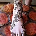 фото Мехенди на лодыжке от 13.07.2018 №132 - Mehendi on the ankle - tatufoto.com