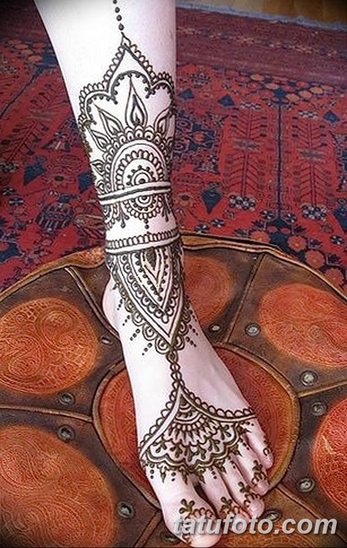 фото Мехенди на лодыжке от 13.07.2018 №134 - Mehendi on the ankle - tatufoto.com