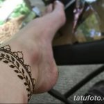 фото Мехенди на лодыжке от 13.07.2018 №135 - Mehendi on the ankle - tatufoto.com