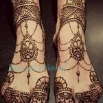 фото Мехенди на лодыжке от 13.07.2018 №138 - Mehendi on the ankle - tatufoto.com
