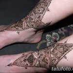 фото Мехенди на лодыжке от 13.07.2018 №140 - Mehendi on the ankle - tatufoto.com