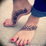 фото Мехенди на лодыжке от 13.07.2018 №141 - Mehendi on the ankle - tatufoto.com