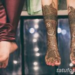 фото Мехенди на лодыжке от 13.07.2018 №144 - Mehendi on the ankle - tatufoto.com