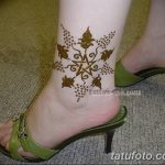 фото Мехенди на лодыжке от 13.07.2018 №146 - Mehendi on the ankle - tatufoto.com