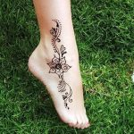 фото Мехенди на лодыжке от 13.07.2018 №148 - Mehendi on the ankle - tatufoto.com