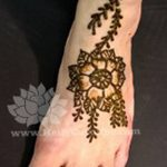 фото Мехенди на лодыжке от 13.07.2018 №152 - Mehendi on the ankle - tatufoto.com