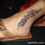 фото Мехенди на лодыжке от 13.07.2018 №154 - Mehendi on the ankle - tatufoto.com