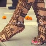 фото Мехенди на лодыжке от 13.07.2018 №160 - Mehendi on the ankle - tatufoto.com