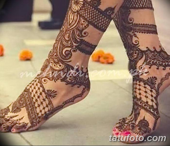 фото Мехенди на лодыжке от 13.07.2018 №160 - Mehendi on the ankle - tatufoto.com