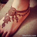 фото Мехенди на лодыжке от 13.07.2018 №162 - Mehendi on the ankle - tatufoto.com
