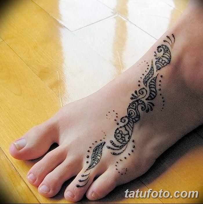 фото Мехенди на лодыжке от 13.07.2018 №163 - Mehendi on the ankle - tatufoto.com