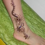 фото Мехенди на лодыжке от 13.07.2018 №164 - Mehendi on the ankle - tatufoto.com