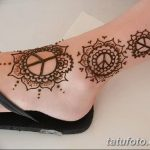 фото Мехенди на лодыжке от 13.07.2018 №165 - Mehendi on the ankle - tatufoto.com