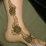 фото Мехенди на лодыжке от 13.07.2018 №172 - Mehendi on the ankle - tatufoto.com