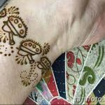 фото Мехенди на лодыжке от 13.07.2018 №174 - Mehendi on the ankle - tatufoto.com