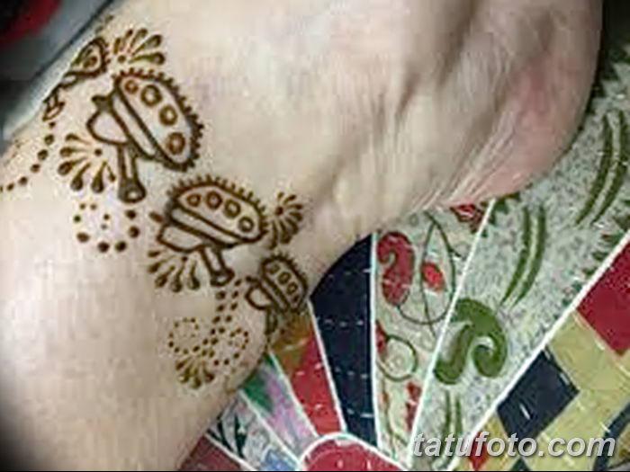 фото Мехенди на лодыжке от 13.07.2018 №174 - Mehendi on the ankle - tatufoto.com