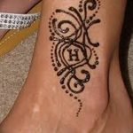 фото Мехенди на лодыжке от 13.07.2018 №176 - Mehendi on the ankle - tatufoto.com