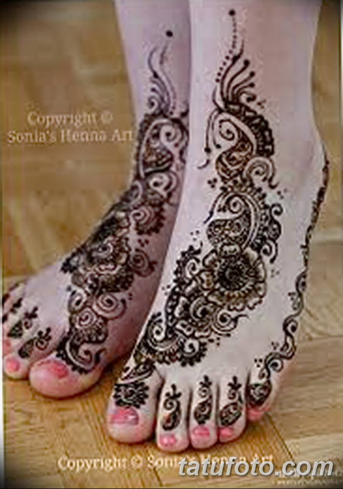 фото Мехенди на лодыжке от 13.07.2018 №177 - Mehendi on the ankle - tatufoto.com