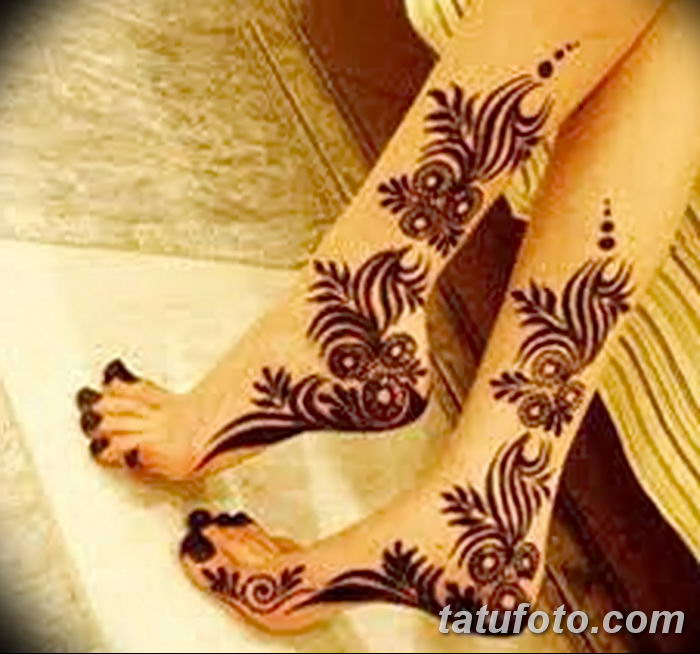 фото Мехенди на лодыжке от 13.07.2018 №178 - Mehendi on the ankle - tatufoto.com