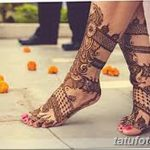 фото Мехенди на лодыжке от 13.07.2018 №179 - Mehendi on the ankle - tatufoto.com