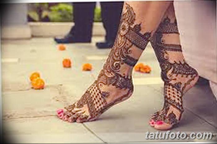 фото Мехенди на лодыжке от 13.07.2018 №179 - Mehendi on the ankle - tatufoto.com