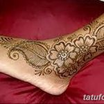 фото Мехенди на лодыжке от 13.07.2018 №180 - Mehendi on the ankle - tatufoto.com
