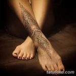 фото Мехенди на лодыжке от 13.07.2018 №181 - Mehendi on the ankle - tatufoto.com