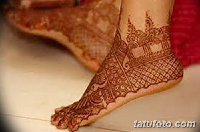 фото Мехенди на лодыжке от 13.07.2018 №182 - Mehendi on the ankle - tatufoto.com