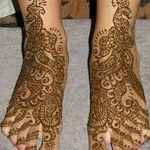 фото Мехенди на лодыжке от 13.07.2018 №183 - Mehendi on the ankle - tatufoto.com