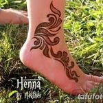 фото Мехенди на лодыжке от 13.07.2018 №184 - Mehendi on the ankle - tatufoto.com