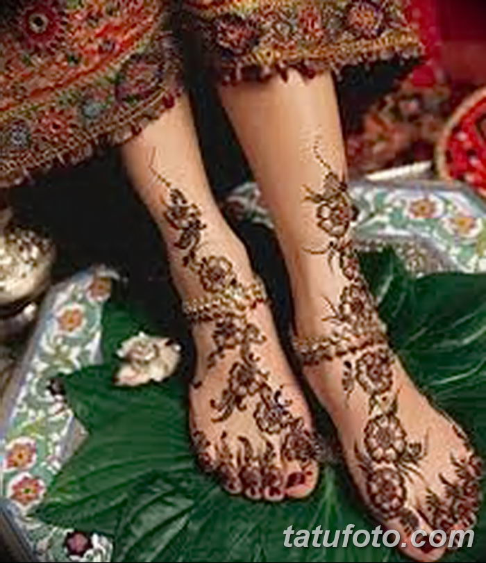 фото Мехенди на лодыжке от 13.07.2018 №185 - Mehendi on the ankle - tatufoto.com
