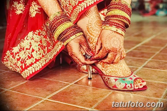 фото Мехенди на лодыжке от 13.07.2018 №189 - Mehendi on the ankle - tatufoto.com