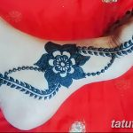 фото Мехенди на лодыжке от 13.07.2018 №192 - Mehendi on the ankle - tatufoto.com