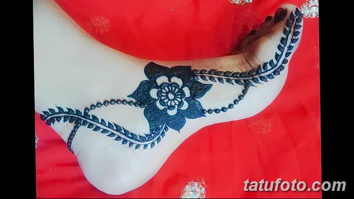 фото Мехенди на лодыжке от 13.07.2018 №192 - Mehendi on the ankle - tatufoto.com