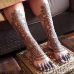 фото Мехенди на лодыжке от 13.07.2018 №194 - Mehendi on the ankle - tatufoto.com