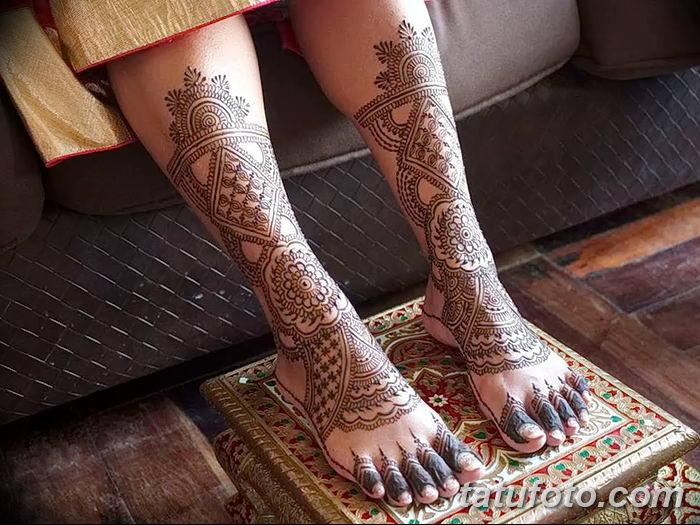 фото Мехенди на лодыжке от 13.07.2018 №194 - Mehendi on the ankle - tatufoto.com