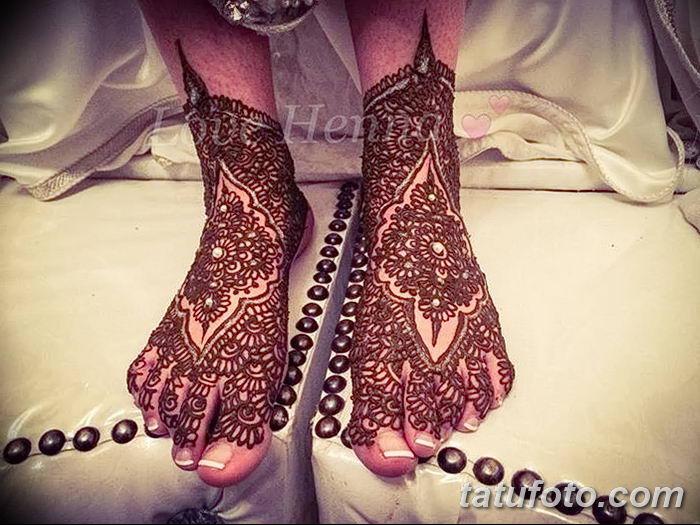 фото Мехенди на лодыжке от 13.07.2018 №196 - Mehendi on the ankle - tatufoto.com
