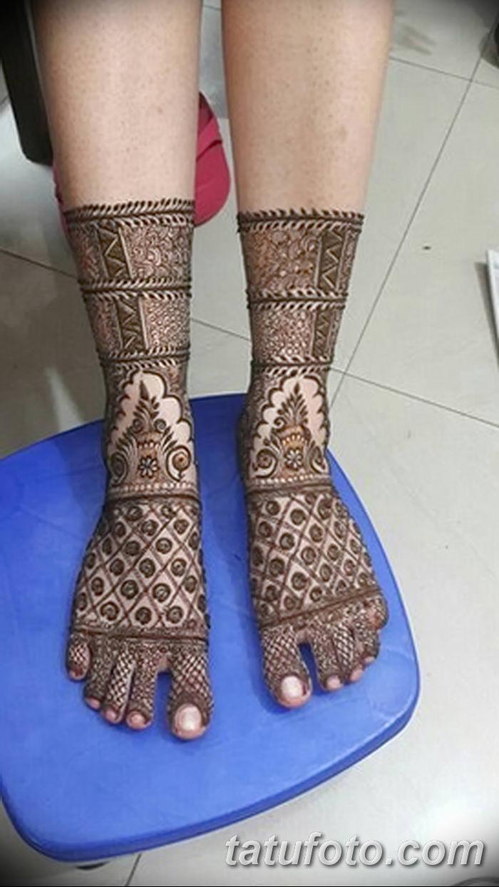 фото Мехенди на лодыжке от 13.07.2018 №199 - Mehendi on the ankle - tatufoto.com