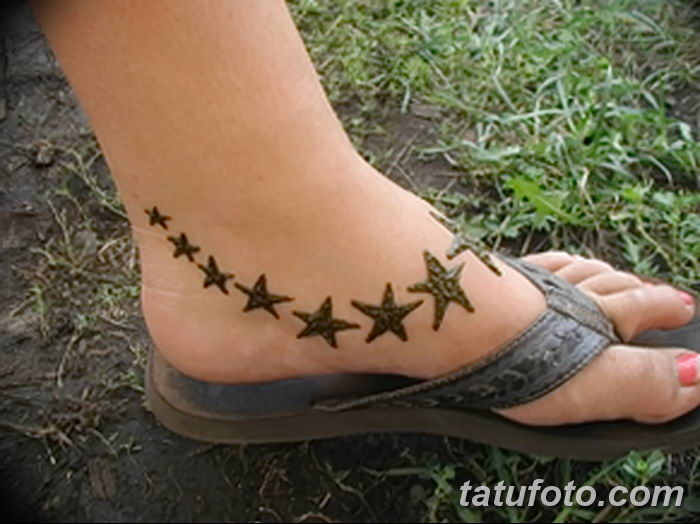 фото Мехенди на лодыжке от 13.07.2018 №200 - Mehendi on the ankle - tatufoto.com