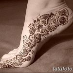 фото Мехенди на лодыжке от 13.07.2018 №201 - Mehendi on the ankle - tatufoto.com