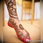 фото Мехенди на лодыжке от 13.07.2018 №203 - Mehendi on the ankle - tatufoto.com