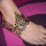 фото Мехенди на лодыжке от 13.07.2018 №204 - Mehendi on the ankle - tatufoto.com