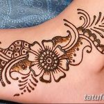 фото Мехенди на лодыжке от 13.07.2018 №205 - Mehendi on the ankle - tatufoto.com